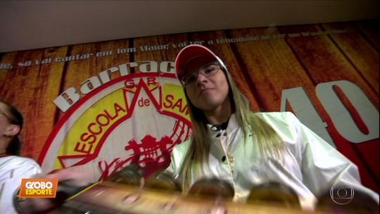 """Número 1 do mundo no skate, Pâmela Rosa toca em bateria de escola de samba em SP: """"É paixão"""""""