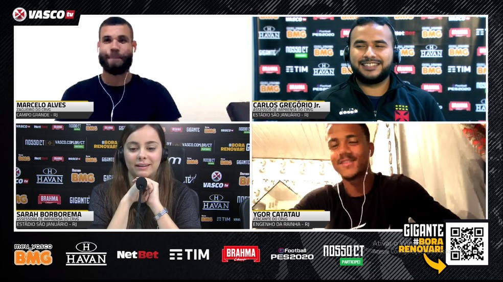 Marcelo Alves e Ygor Catatau foram anunciados pelo Vasco — Foto: Reprodução