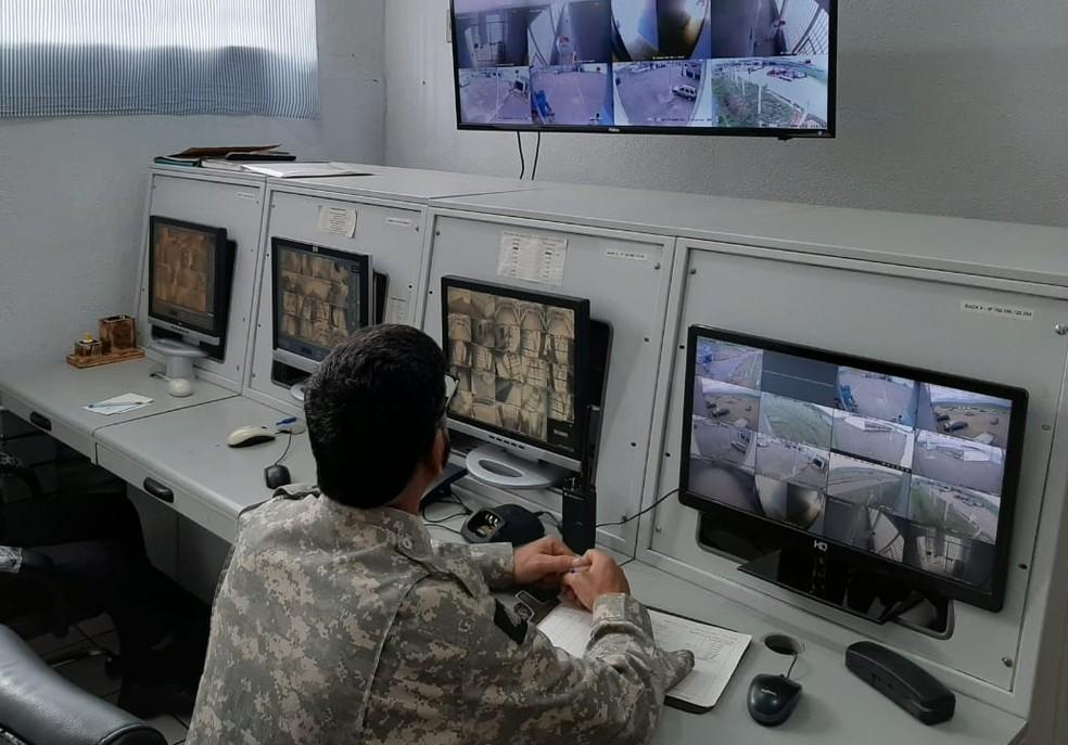 Penitenciária teve a instalação de novo sistema de videomonitoramento em Três Corações (MG) — Foto: Divulgação/Sejusp