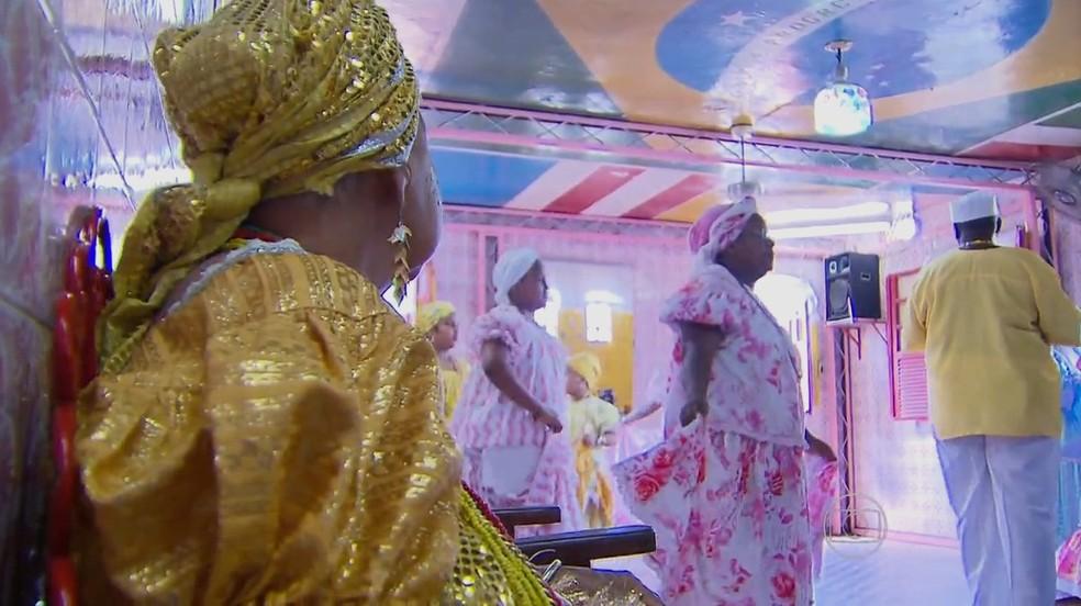 Terreiro de Xambá, em Olinda, é um dos que celebram o Dia de Oxum no 16 de julho (Foto: Reprodução/TV Globo)