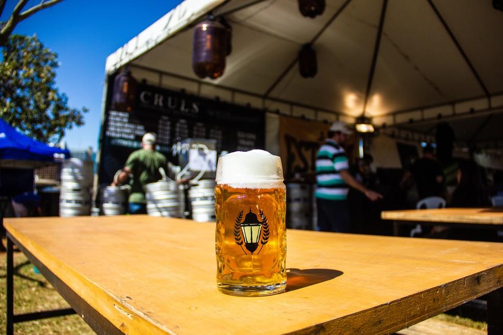 Cerveja clara da Cruls, a cervejaria artesanal brasiliense que conquistou 17 prêmios nacionais e internacionais em menos de dois anos de existência — Foto: Cruls/Divulgação