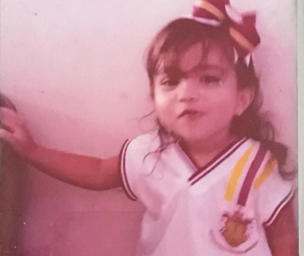 Menina de 2 anos que caiu em caldeirão com água quente na PB morreu após infecções, diz médico — Foto: Família/Arquivo Pessoal