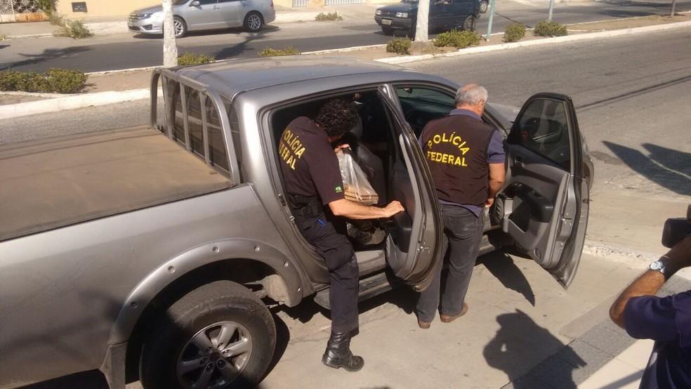 Operação Alcmeon também cumpriu mandados em Mossoró (Foto: Oscar Xavier/Inter TV Costa Branca)