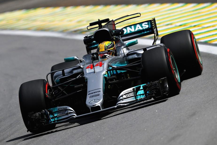 Dominante, Hamilton repete a dose e lidera o 2º treino livre para o GP do Brasil