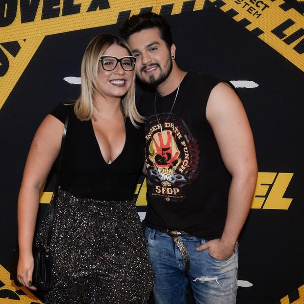 Luan Santana e Marília Mendonça (Foto: Francisco Cepeda/AgNews)