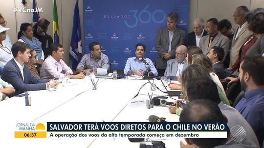 Capital baiana terá voos diretos para o Chile a partir de dezembro