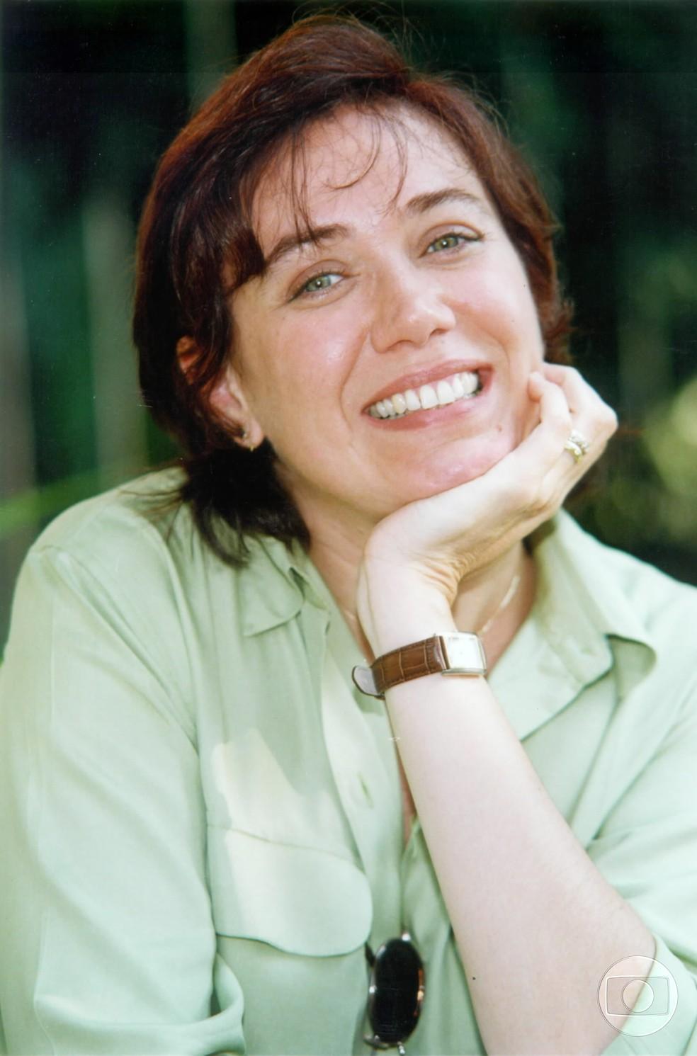Lilia Cabral interpretou Claudia em Malhação, na temporada dos anos 1999-2000 — Foto: CEDOC/TV Globo