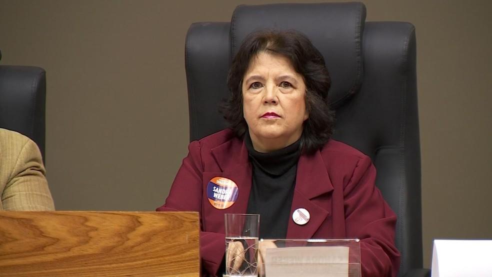 Sandra Weber é candidata ao Senado pelo Solidariedade (Foto: Reprodução/RBS TV)
