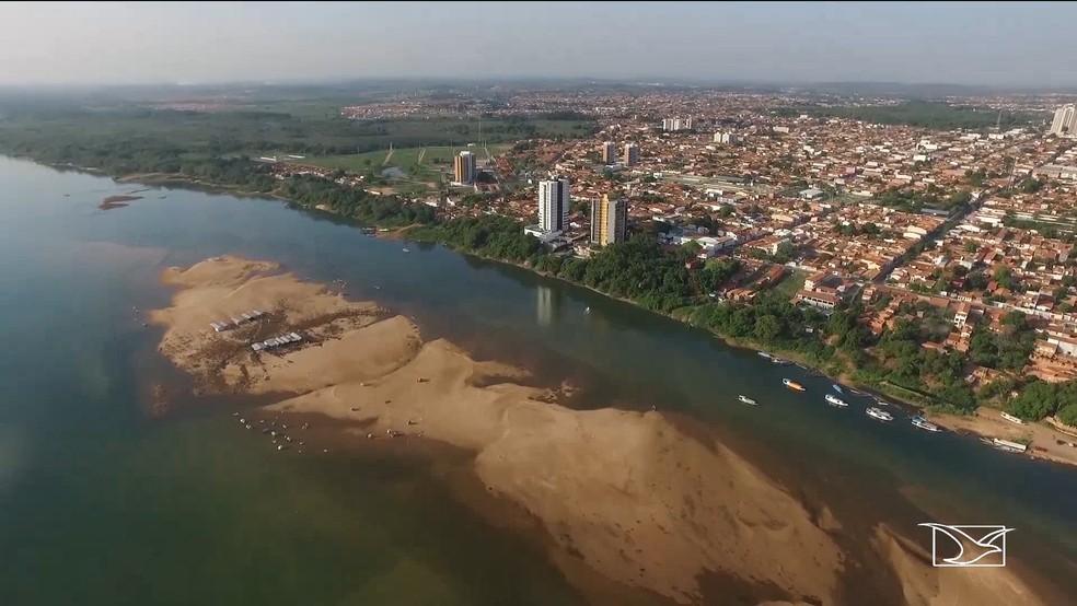 Rio Tocantins abastece Imperatriz e região — Foto: Reprodução / TV Mirante