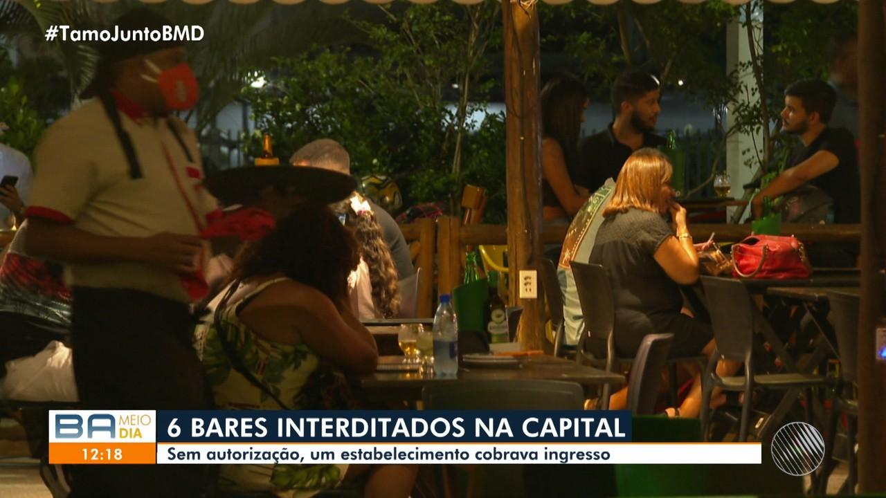 Prefeitura de Salvador interdita bares durante operação, por não cumprimento de decretos