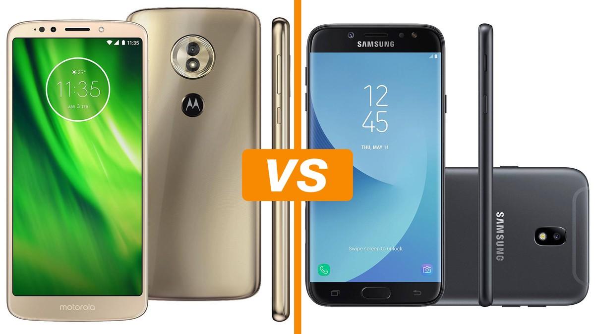 12dcaa103 Moto G6 Play vs Galaxy J7 Pro  descubra ficha técnica e preço ...