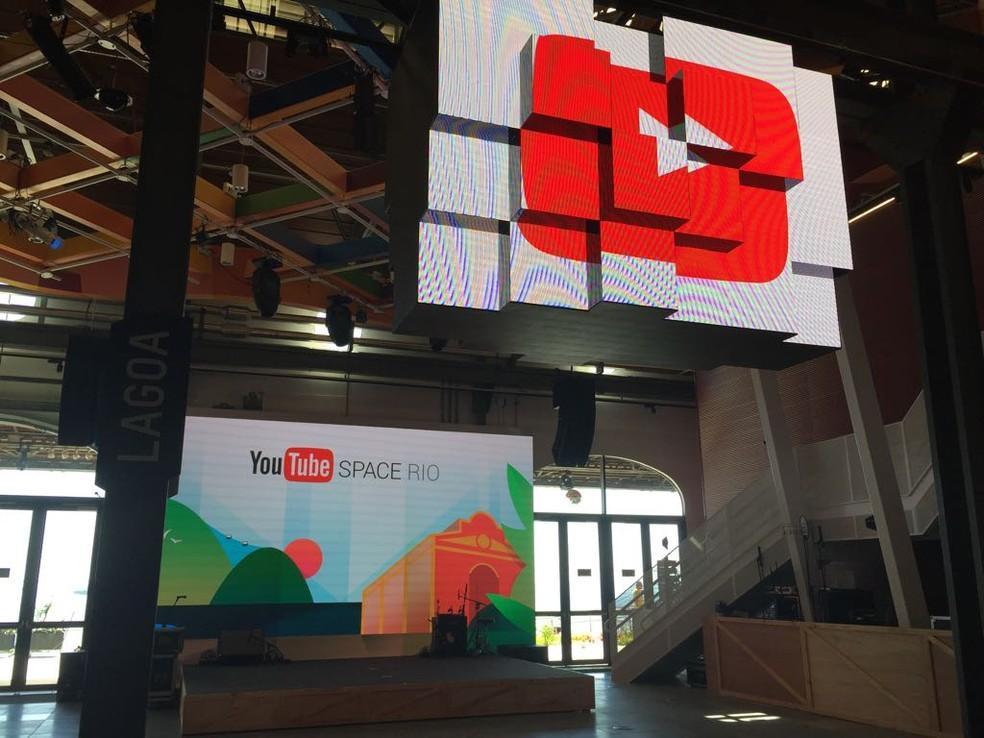 Google inaugura no Rio o segundo YouTube Space do Brasil; ambiente dará suporte para criadores da plataforma de vídeos. (Foto: Cristina Boeckel/G1)