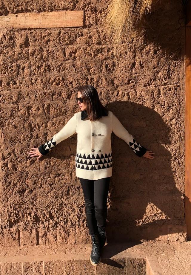 Camilla Guebur em visita ao Peru (Foto: divulgação)