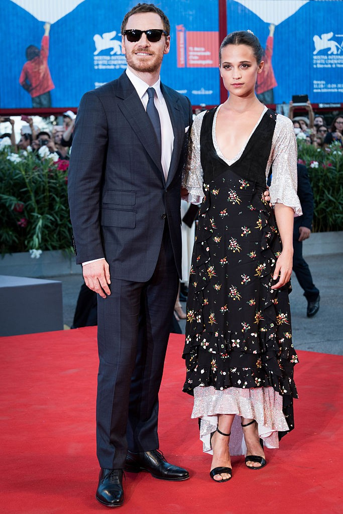 Alicia Vikander com Michael Fassbender (Foto: Getty Images)