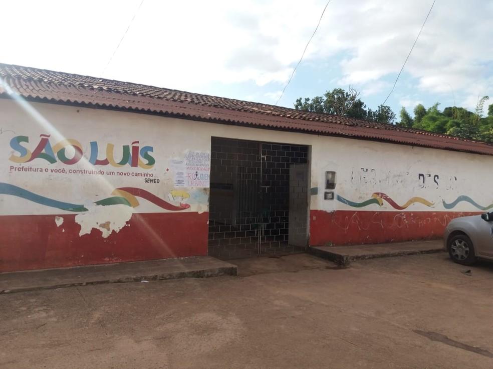 UEB Gomes de Souza, na Vila Maranhão (Foto: Alessandra Rodrigues/Rádio Mirante AM)