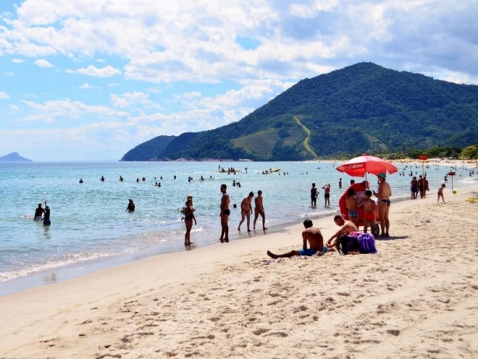 Praia de Maresias em São Sebastião, SP (Foto: Danilo Sardinha)