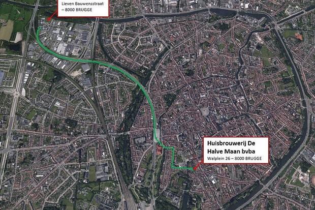 Pipeline de 3,3 km que passa por baixo da cidade de Bruges (Foto: divulgação)