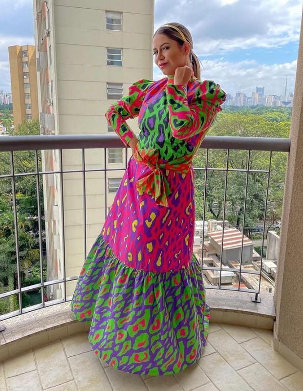 Marília Mendonça com vestido da Alix (Foto: Reprodução/ Instagram)