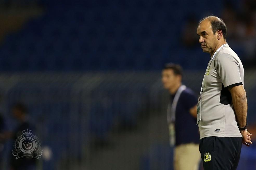 Ricardo Gomes ficou apenas três meses no Al Nassr, no ano passado (Foto: Twitter / @AlNassrFC)