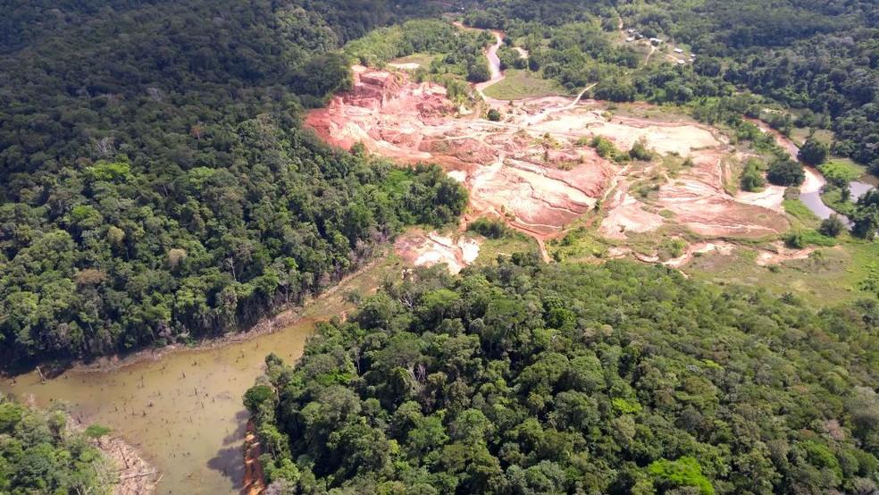 Esquema pedia propina para liberar atividades em garimpos no Amapá (Foto: Imap/Divulgação)