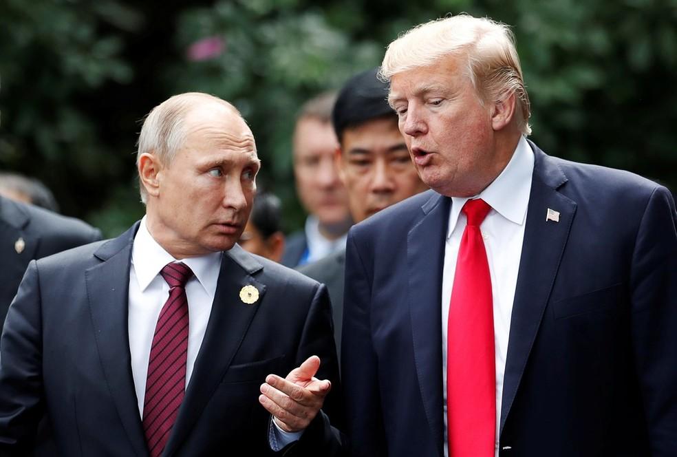 Putin e Trump (Foto: Jorge Silva/Reuters)