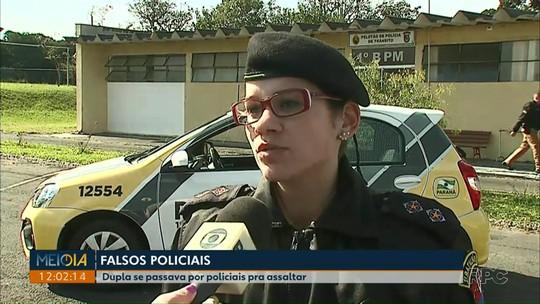 Dois jovens são presos suspeitos de se passarem por policiais para assaltar