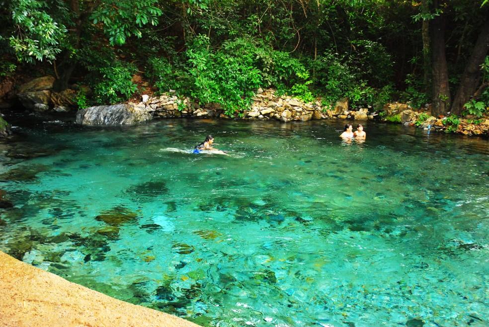 O rio Azuis é uma das principais atrações turísticas do Tocantins (Foto: Thiago Sá/Governo do Tocantins)
