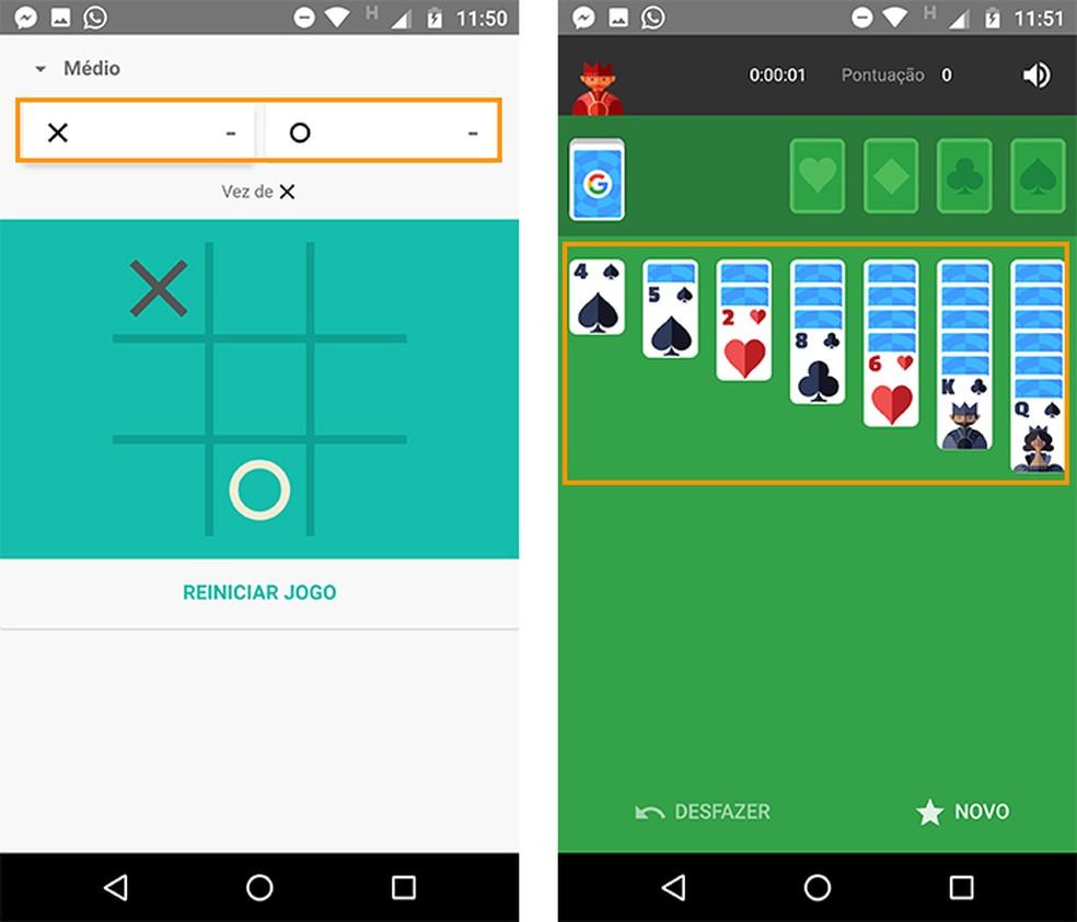 Jogue contra o próprio sistema do Android pelo celular (Foto: Reprodução/Barbara Mannara)