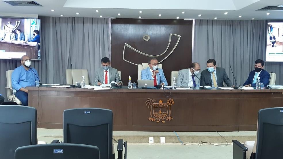 Sessão CPI da COvid no RN — Foto: Sérgio Henrique Santos/Inter TV Cabugi