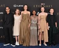 Filha de Angelina rouba a cena em première com Elie Saab que mãe já usou no Oscar
