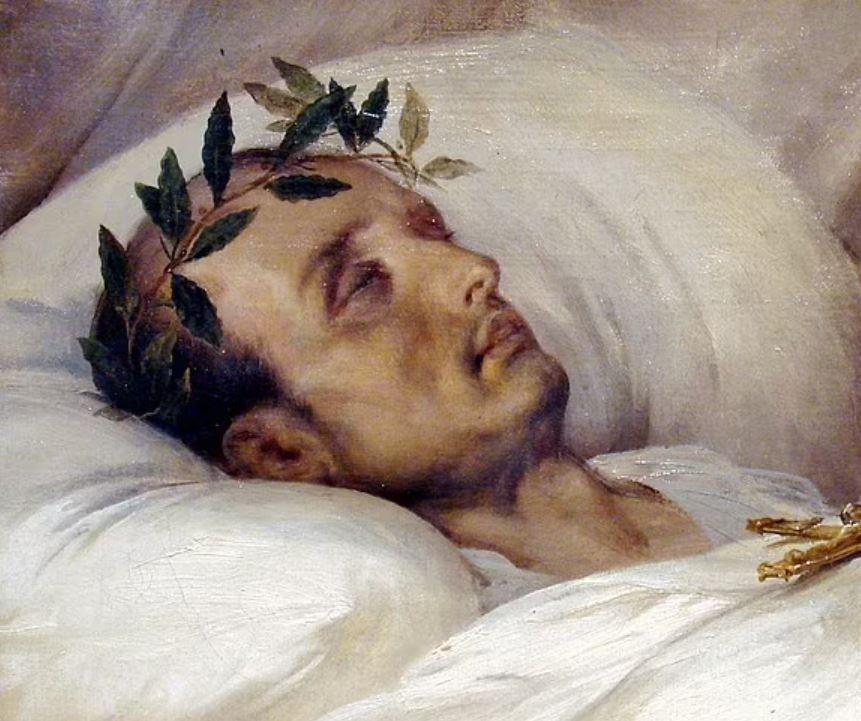 A morte de Napoleão Bonaparte é fruto de várias teorias da conspiração. Uma delas diz que ele faleceu envenenado pelo arsênico presente em seu papel de parede (Foto: Domínio Público)
