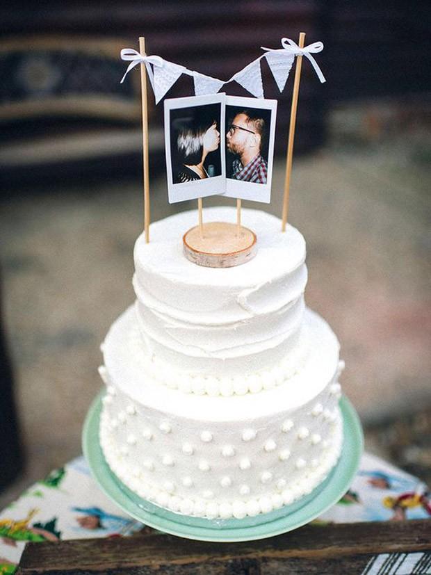 Topo de bolo de casamento: Combinação certeira (Foto: Pinterest/Reprodução)