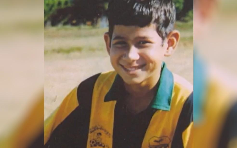 Murilo Soares desapareceu aos 12 anos, em Aparecida de Goiânia — Foto: Reprodução/TV Anhanguera
