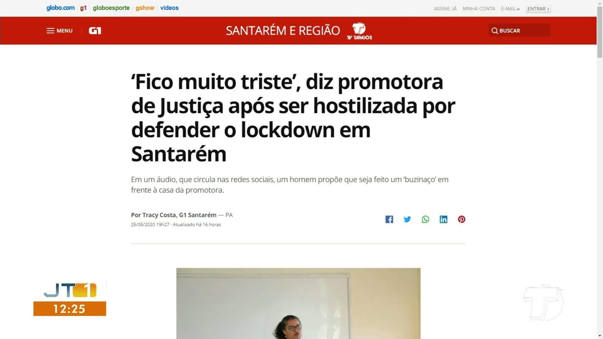 VÍDEOS: Jornal Tapajós 1ª Edição de terça-feira, 26 de maio