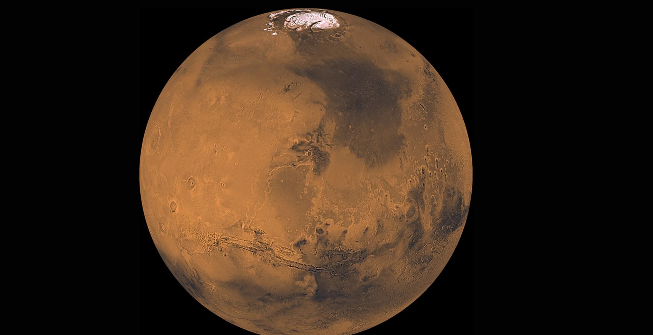Nasa pretende retornar à Lua em 2024 e depois visitar pela primeira vez o planeta vermelho, em 2033 (Foto:  NASA/JPL/USGS)