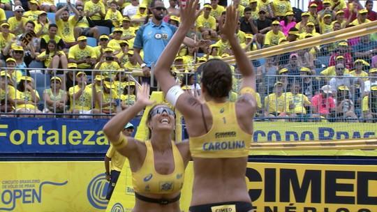 Maria Elisa e Carol vencem Ágatha e Duda na final em Fortaleza e Maria dedica título à cadela Luna
