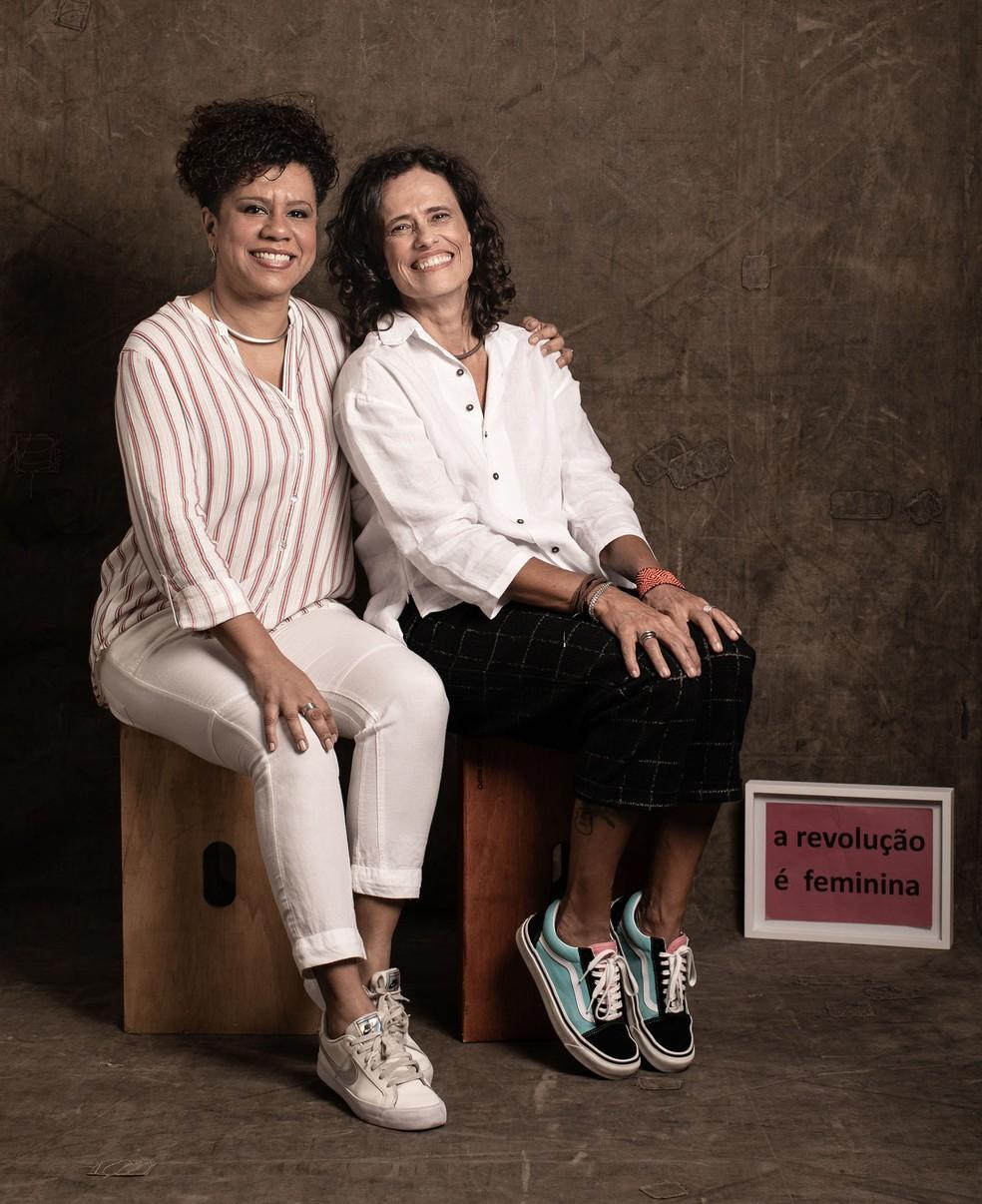 Ana Costa e Zélia Duncan são as compositoras das 16 músicas do álbum conceitual 'Eu sou mulher, eu sou feliz' — Foto: Jorge Bispo / Divulgação