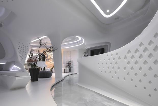 Casa futurista se ajusta ao perfil dos moradores (Foto: Ar Her Kuo)