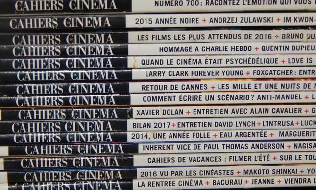 """Edições de vários anos da """"Cahiers du Cinéma"""""""