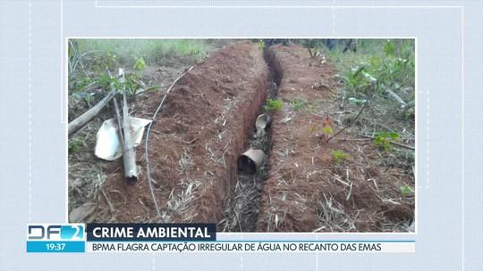 Batalhão Ambiental flagra captação irregular de água no Recanto das Emas