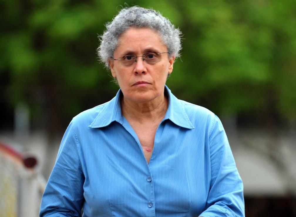 Dora María Téllez, opositora de Daniel Ortega e dissidente sandinista foi presa na Nicarágua. Foto de arquivo tirada em 2012 — Foto: Hector Retamal/AFP