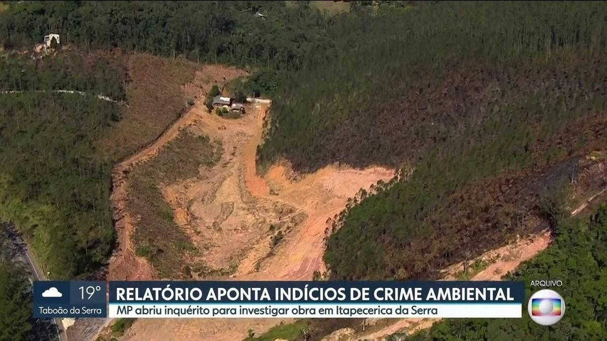 CPI encontra indícios de crime ambiental em obra em Itapecerica da Serra - G1