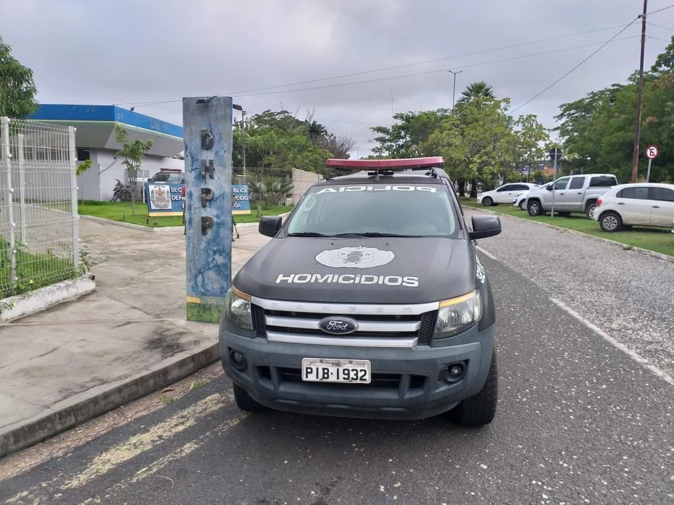 Departamento de Homicídios e Proteção à Pessoa (DHPP) em Teresina — Foto: Francisco Lima/TV Clube