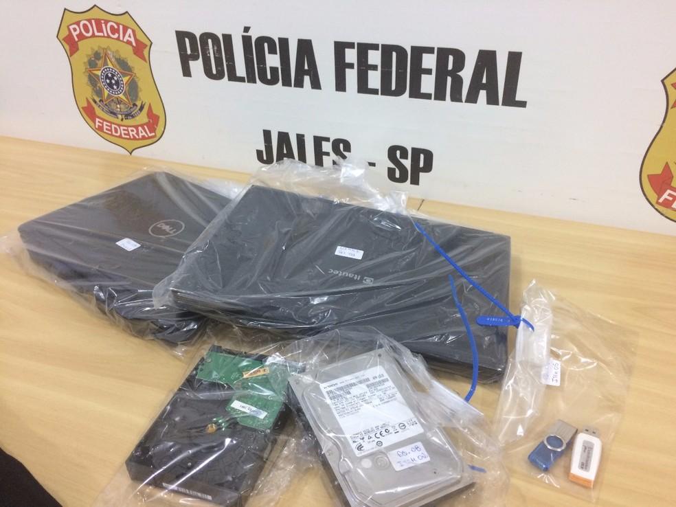Computadores apreendidos pela Polícia Federal (Foto: Divulgação/Polícia Federal)