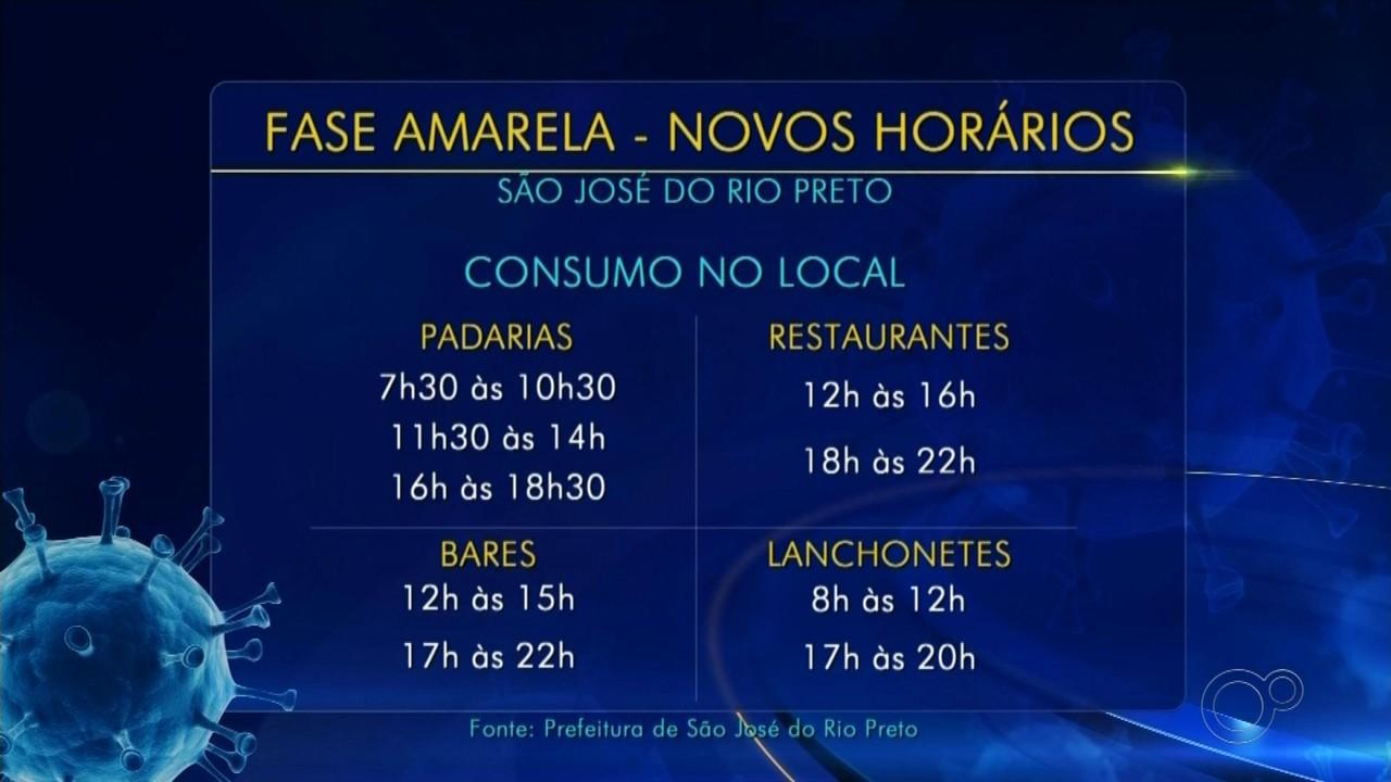 Bares e restaurantes começam a funcionar até as 22h em Rio Preto