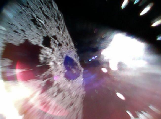 Foto do asteroide Ryugu (Foto: Divulgação)