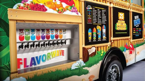 Caminhão da Kona Ice, rede de franquias de sorvete (Foto: Divulgação)