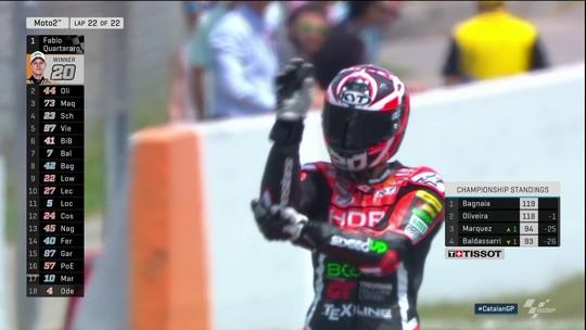 Fabio Quartararo vence na Moto 2, etapa da Catalunha, do Mundial de motovelocidade