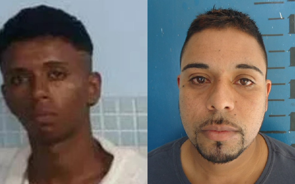 Andresson da Silva Nogueira (esq.) e Tiago Gomes da Silva estão foragidos (Foto: Divulgação/Polícia Civil)