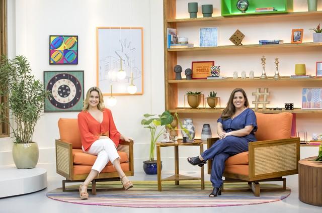 Fernanda Gentil e Machado no 'Se joga' (Foto: João Miguel Jr.)